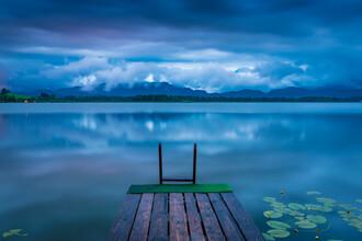 Martin Wasilewski, Blue Hour at lake Hopfensee (Germany, Europe)