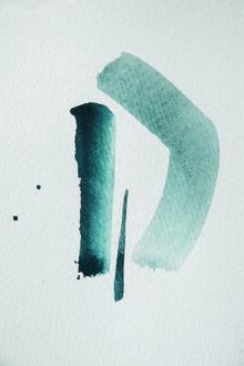 Studio Na.hili, Aquarelle Meets Pencil - Mint (Germany, Europe)