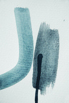 Studio Na.hili, Aquarelle Meets Pencil - Blue and Black (Germany, Europe)