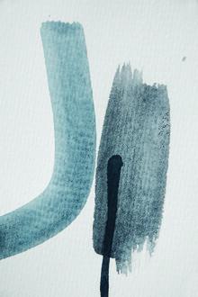 Studio Na.hili, Aquarelle Meets Pencil - Blue and Black (Germany, Europe)