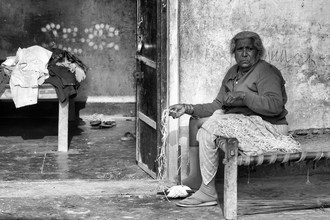 Portrait Village lady - Fineart photography by Jagdev Singh