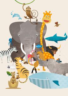Pia Kolle, Kinderzimmer-Tiere – Illustration für Kinder (Deutschland, Europa)
