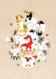 Pia Kolle, Eins, zwei, drei Tiere – Illustration für Kinder (Deutschland, Europa)