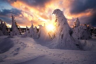 Oliver Henze, Magischer Sonnenaufgang auf dem Brocken im Winter (Deutschland, Europa)