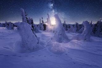 Oliver Henze, Eine kalte Winternacht unter Sternenhimmel (Deutschland, Europa)