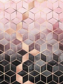 Elisabeth Fredriksson, Pink Grey Gradient Cubes (Sweden, Europe)
