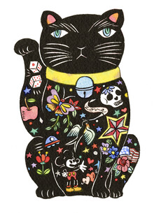 Rumi Hara, Maneki Cat - Black 1 (United States, North America)
