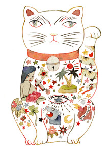Rumi Hara, Maneki Cat - White 2 (United States, North America)