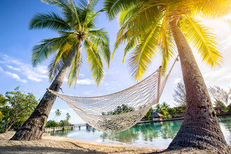 Jan Becke, Holiday in a hammock (French Polynesia, Oceania)
