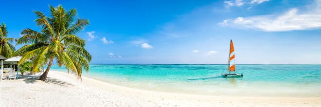 Jan Becke, Summer vacation at a beach on the Maldives (Maldives, Asia)