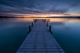 Franz Sussbauer, Bathing jetty in the morning light (Germany, Europe)