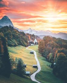 Thomas Müller, Sonnenuntergang in den Bergen (Deutschland, Europa)