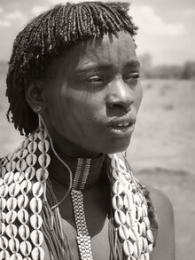 Phyllis Bauer, Woman with Face Tattoo (Ethiopia, Africa)