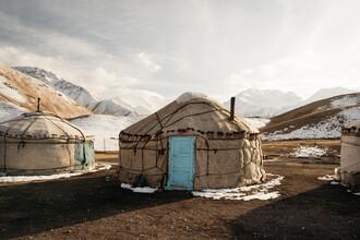 Claas Liegmann, Traditionelle Jurte im Pamir Gebirge in Kirgisistan (Kirgistan, Asien)