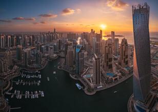 Jean Claude Castor, Dubai Marina Skyline (Vereinigte Arabische Emirate, Asien)