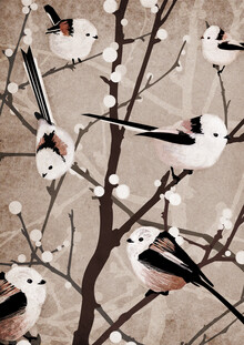 Katherine Blower, Long Tailed Tit Birds (Großbritannien, Europa)