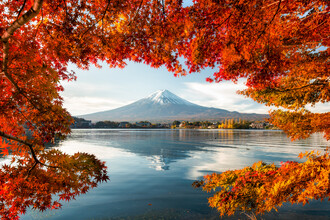 Jan Becke, Mount Fuji at Lake Kawaguchiko (Japan, Asia)