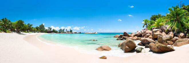 Jan Becke, Beach panorama in the Seychelles (Seychelles, Africa)