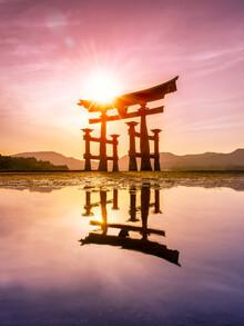Jan Becke, Torii of the Itsukushima Shrine on Miyajima (Japan, Asia)