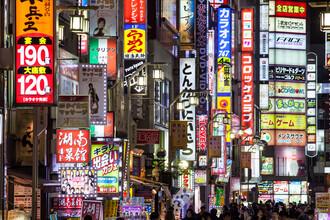 Jan Becke, Bunte Leuchtreklame im Stadtviertel Kabukicho (Japan, Asien)