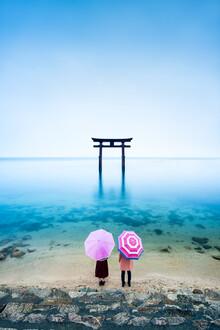 Jan Becke, Torii at Lake Biwa (Japan, Asia)