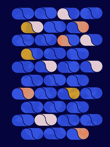 Ania Więcław, Blue modern pattern (Poland, Europe)