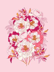 Ania Więcław, Pink flowers of peonies (Polen, Europa)