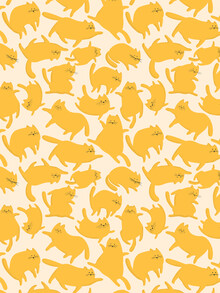 Ania Więcław, Yellow Cats Pattern (Poland, Europe)