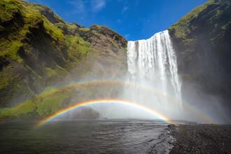 Dave Derbis, Regenbogen am Skogarfoss (Island, Europa)