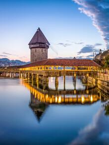 Jan Becke, Kapellbrücke in Lucerne (Switzerland, Europe)