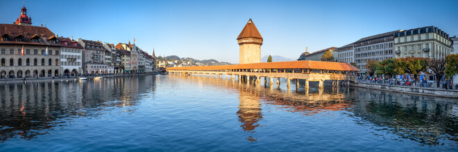 Jan Becke, Kapellbrücke in Luzern (Schweiz, Europa)