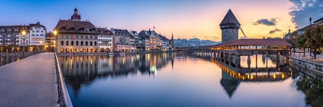 Jan Becke, Old town of Lucerne at sunrise (Switzerland, Europe)