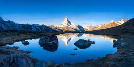 Jan Becke, Stellisee und Matterhorn in den Schweizer Alpen (Schweiz, Europa)