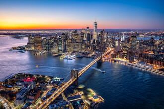 Jan Becke, Manhattan Skyline mit Brooklyn Bridge (Vereinigte Staaten, Nordamerika)