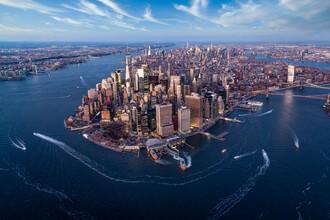 Jan Becke, Aerial view of the Manhattan skyline (United States, North America)