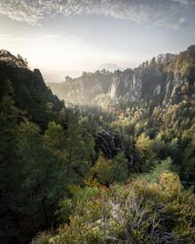 Ronny Behnert, Basteiaussicht am Morgen Elbsandsteingebirge (Deutschland, Europa)