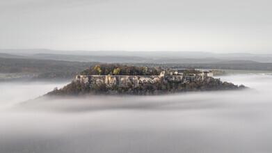 Ronny Behnert, Burg Königstein im Nebel Elbsandsteingebirge (Deutschland, Europa)