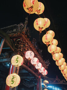Gaspard Walter, Chinese Lanterns in Taipei's temple (Taiwan, Asien)