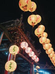 Gaspard Walter, Chinese Lanterns in Taipei's temple (Taiwan, Asia)