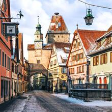 Thomas Müller, Straßen von Rothenburg (Deutschland, Europa)