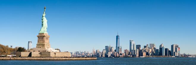 Jan Becke, Manhattan Skyline mit Freiheitsstatue (Vereinigte Staaten, Nordamerika)
