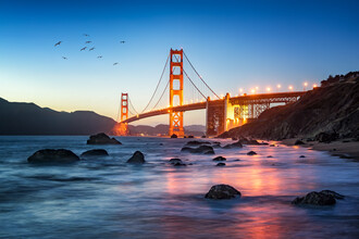 Jan Becke, Golden Gate Bridge in San Francisco (United States, North America)