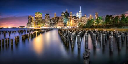 Jan Becke, Lower Manhattan Skyline at night (United States, North America)