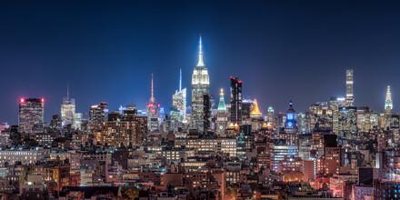 Jan Becke, New York City Skyline at night (United States, North America)