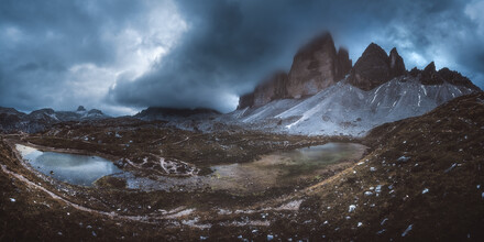 Jean Claude Castor, Drei Zinnen Panorama in den Dolomiten (Italien, Europa)
