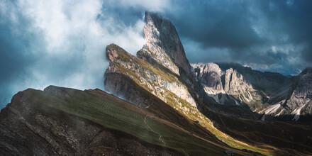 Jean Claude Castor, Seceda mit Geislergruppe in den Dolomiten (Italien, Europa)