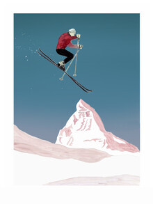 Mantika Mountain Love The Skier - fotokunst von Christina Wolff