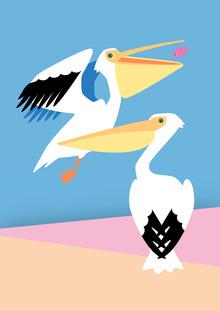 Pia Kolle, Zwei Pelikane (Deutschland, Europa)