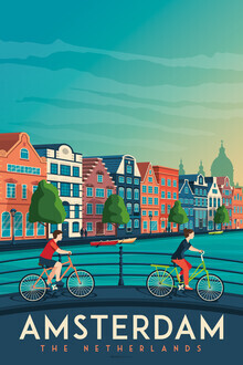 François Beutier, Amsterdam Vintage Travel Wandbild (Niederlande, Europa)