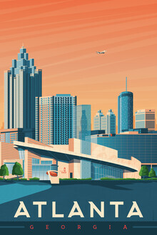 François Beutier, Atlanta vintage travel wall art (United States, North America)